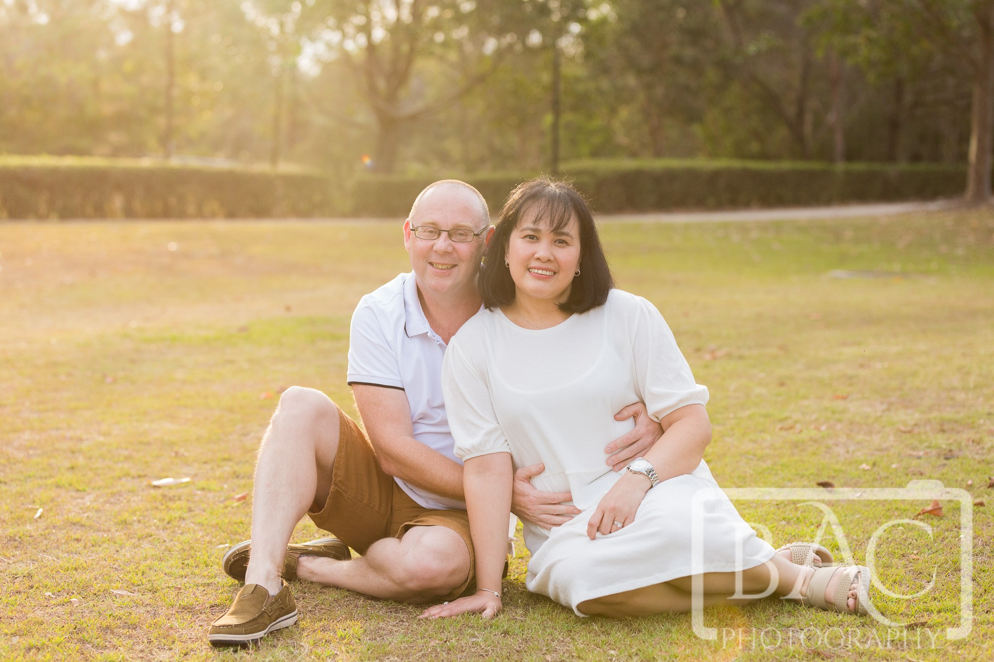 beautiful couples outdoor portrait