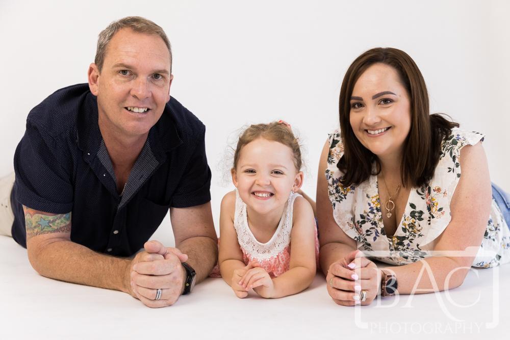 happy family studio portrait