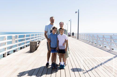 family portrait on shorncliffe pier