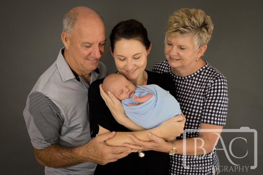 three generation newborn portrait